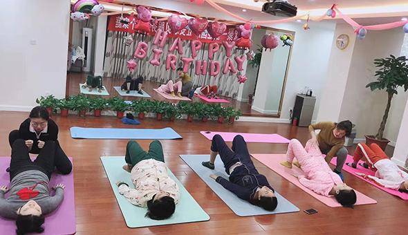 孕产妇瑜伽课堂